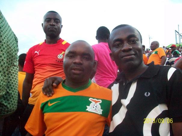 Zambian supporter Kabila & Kusi Oduro